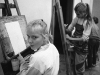 Drawing class, Wilhelm-Pieck Strasse, Berlin, 1990