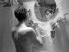 Scott shaving, Ithaca, NY 1985