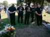 Mourning Fallen Fireman, Moosic Street Cemetery, 2008