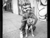 Anthony with Pit Bull, Lorimer St., Williamsburg, Brooklyn, 1996
